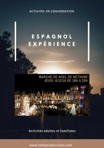 Marché de Noël afiche Espagnol expérience 1 FR